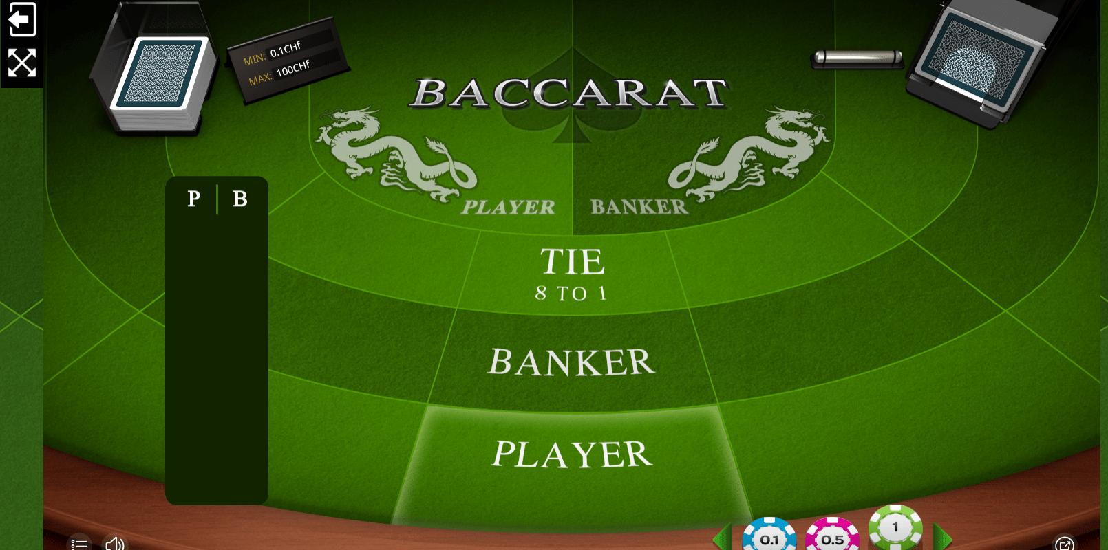 Baccarat spiele