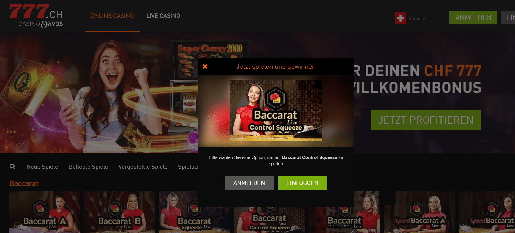 Casino777 ch baccarat spiele