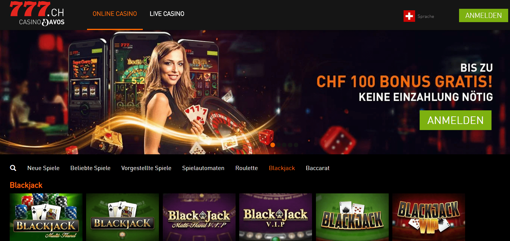 Casino777 ch blackjack
