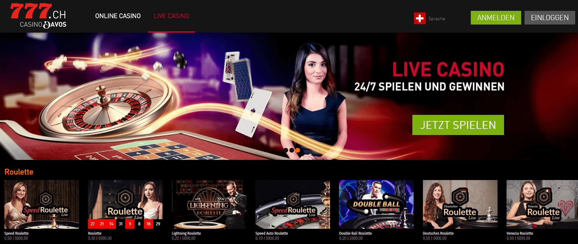 Casino777 ch live casino