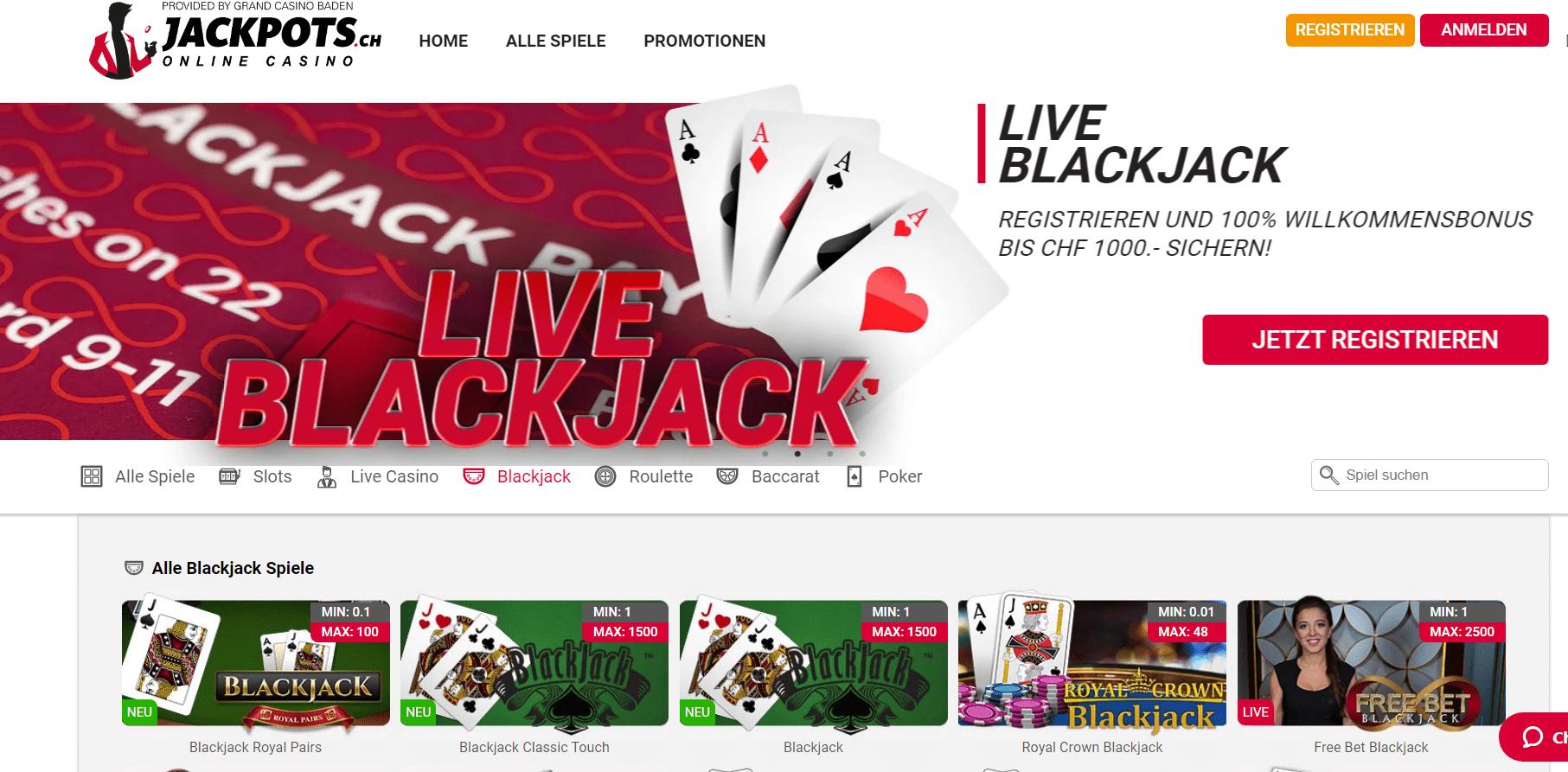 Jackpots ch blackjack