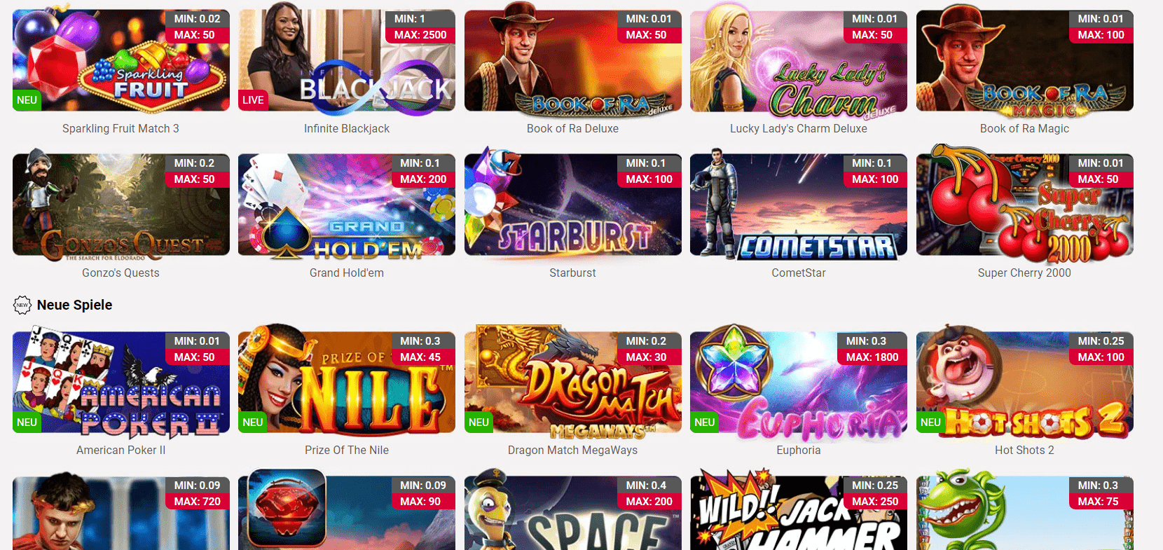 Jackpots.ch casino spiele