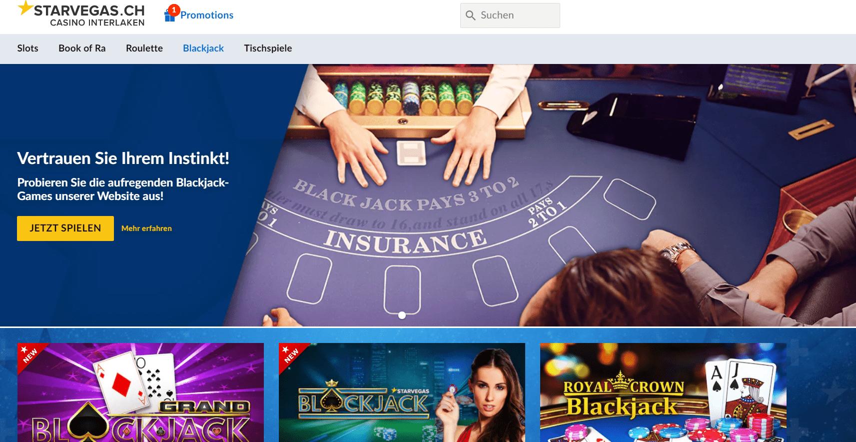 Starvegas ch blackjack
