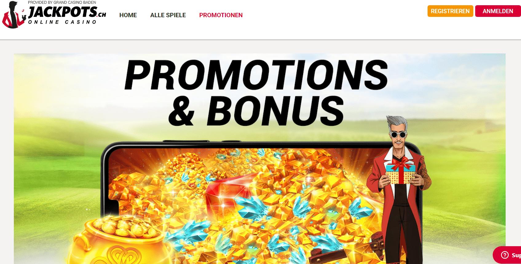 Jackpots ch bonus