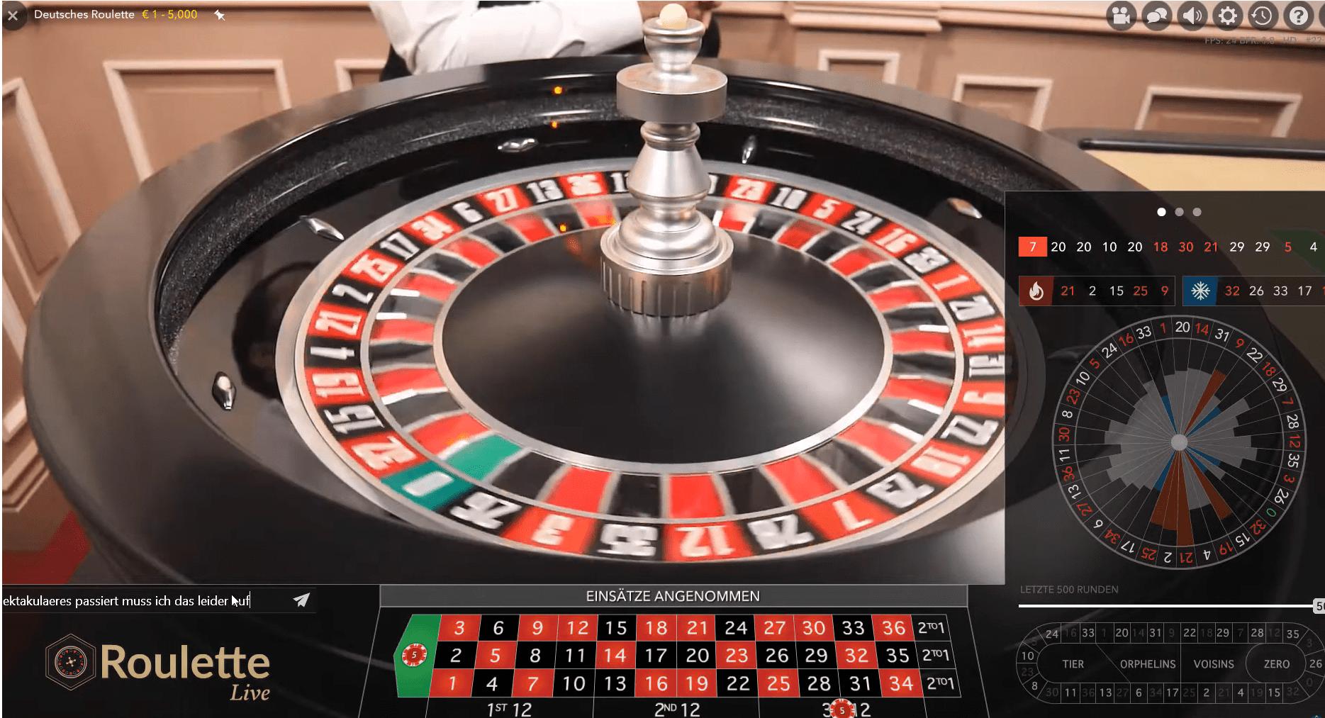 live german roulette